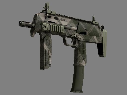 MP7 | Olive Plaid (Battle-Scarred)