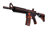 Souvenir M4A4 | Radiation Hazard (Minimal Wear)