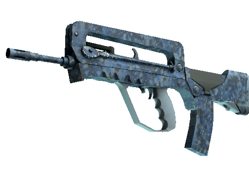 Souvenir FAMAS | Cyanospatter (Battle-Scarred)