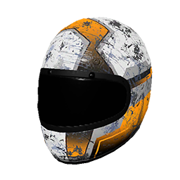 Orange Racing Helmet