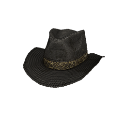 Black Canvas Outback Hat