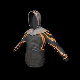 Black and Orange Athletic Hoodie