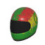 Skin: Rasta Motorcycle Helmet
