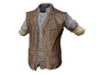 Skin: Leather Flannel Vest