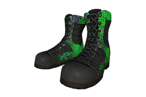 Green Splatter Boots