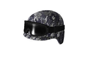 Blue Camo Tactical Helmet W Goggles