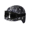 Blue Camo Tactical Helmet w/Goggles