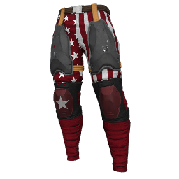 Patriotic Red Military Pants