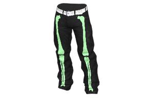 Green Bone Baggy Pants