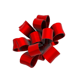 Festive Red Party Bow