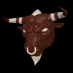Wooden Minotaur Mask