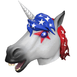 Patriotic Unicorn Mask