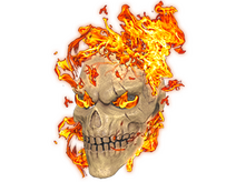 Fire Hazard Skull Mask