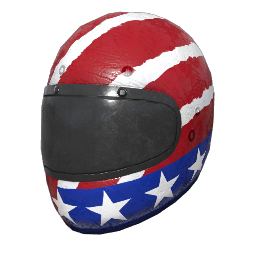 Patriotic Racing Helmet