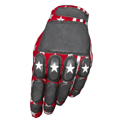 Patriotic Red Padded Gloves