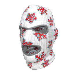 Red Snowflake Ski Mask