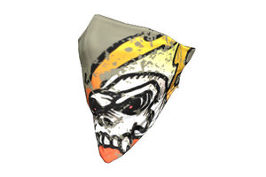 Flaming Skull Face Bandana
