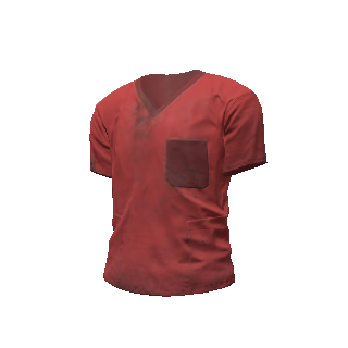 Red Scrubs Shirt