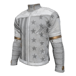 Patriotic White Military Shirt