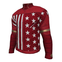 Patriotic Red Military Shirt