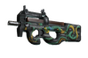 StatTrak™ P90 | Emerald Dragon (Well-Worn)
